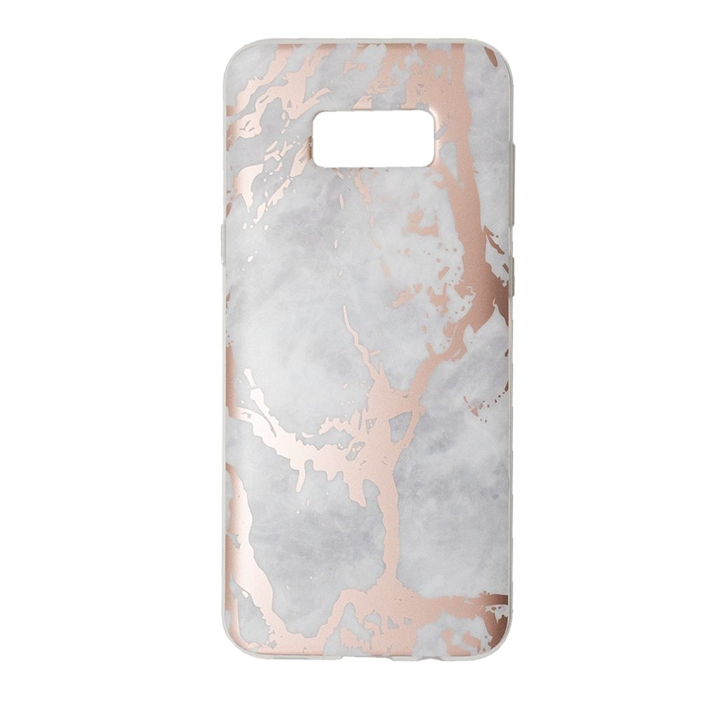 best service b6e8e 6974c White Marble Rose Gold Chrome Case - Samsung Galaxy S8 Plus