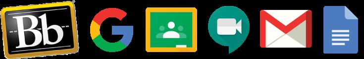 Google Classroom Hangouts Gmail Google Docs icons