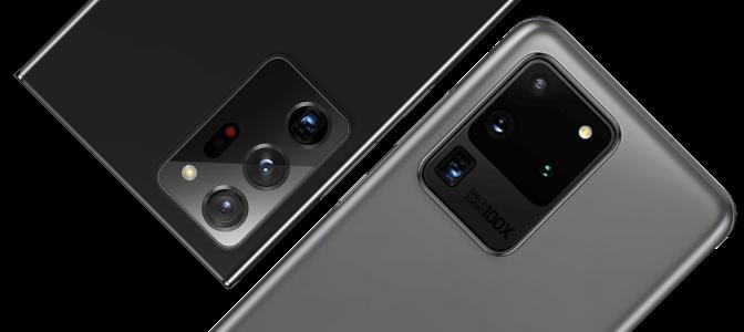Samsung Galaxy S20 Ultra and Samsung Galaxy Note20 Ultra Cameras